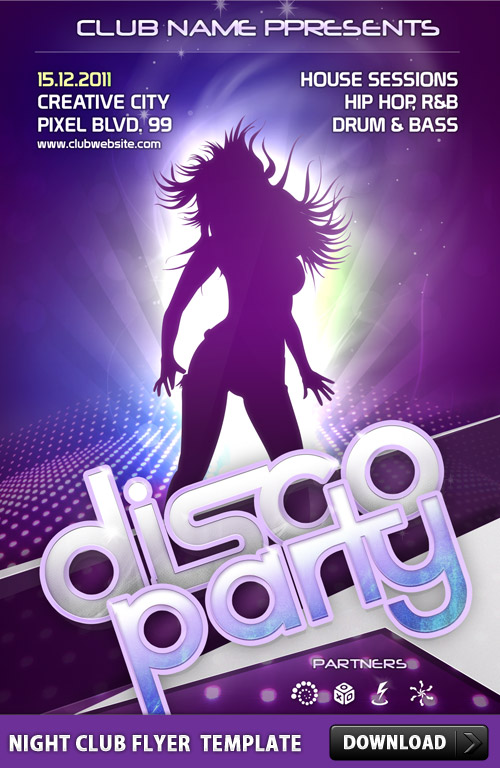 Night Club Flyer Template Psd Download Download Psd