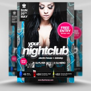 Nightclub Flyer Template PSD