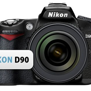 Nikon D90 Camera PSD