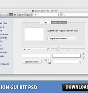 OSX Lion GUI Kit Free PSD Web Resources, Web Elements, URL Fields, Tabbed Content, Sliders, Sidebar, Search, Scroll Bar, Resources, Radio Button, Psd Templates, PSD Sources, psd resources, PSD images, psd free download, psd free, PSD file, psd download, PSD, OSX, OS, Navigation Elements, Main Window, Lion, Layered PSDs, Icons, Icon PSD, GUI, Graphical User Interface, Free PSD, Free Icons, Free Icon, Elements, Drop Down, download psd, download free psd, Check Boxes, Check Box, Buttons, Button, Apple,