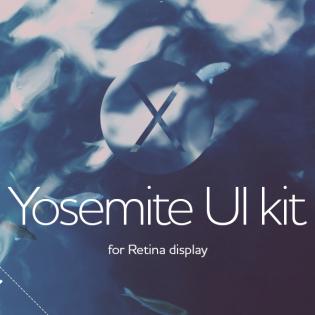 OSX Yosemite Retina UI Kit PSD