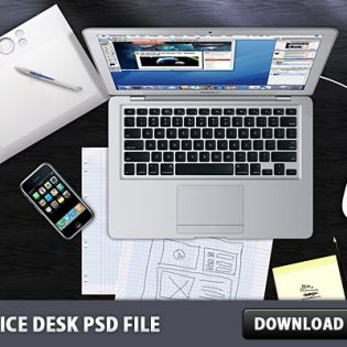 Office Desk Free PSD File