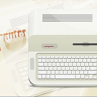Old Computer PSD Free