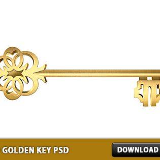 Old Golden Key Free PSD