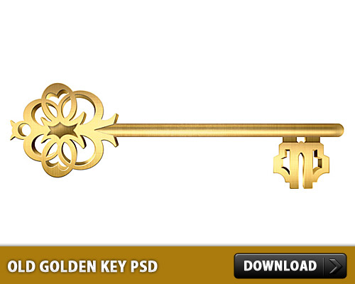 Old Golden Key Free PSD