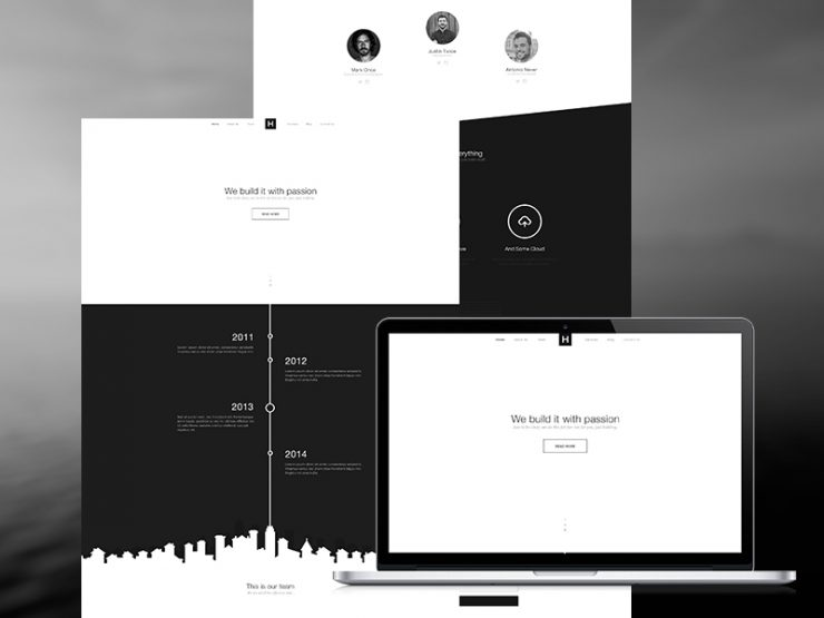 One Page Flat Black and White PSD Template www, White, Website Template, Website Layout, Website, webpage, Web Template, Web Resources, web page, Web Layout, Web Interface, Web Elements, Web Design, Web, User Interface, UI, Template, Single Page, Simple, Resources, Psd Templates, one page, Modern, Freebie, Free Template, Free PSD, Flat, Elements, Corporate, Clean, black and white, Black, agancy,