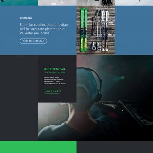 One Page Personal Portfolio Website Template Free PSD