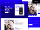 One Page Portfolio Website Template Free PSD