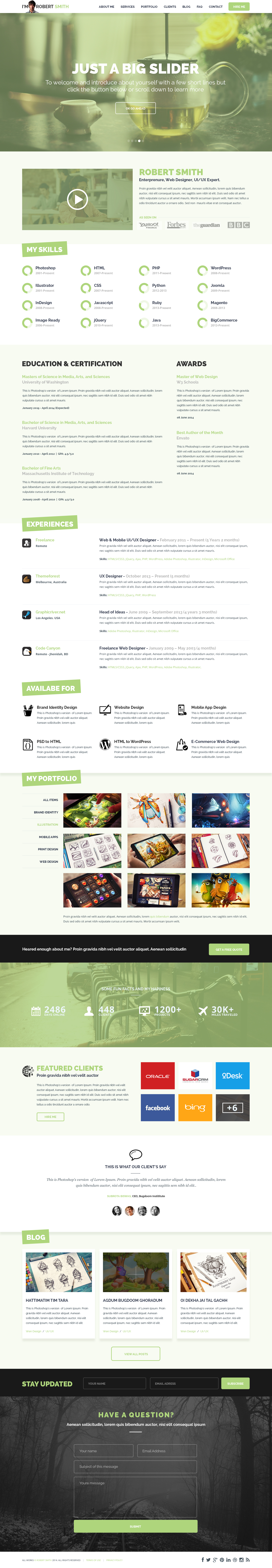 awesome ideas web resume 4 20 creative resume website templates to