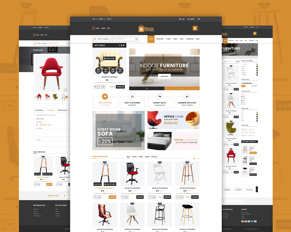 Online retail store website template free psd download psd for Online product catalog template