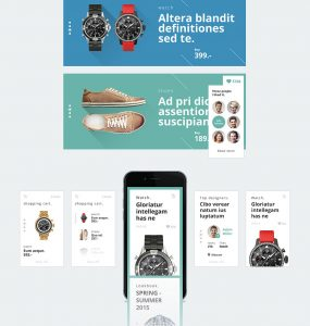 Online Shopping Store Mobile UI Kit Free PSD