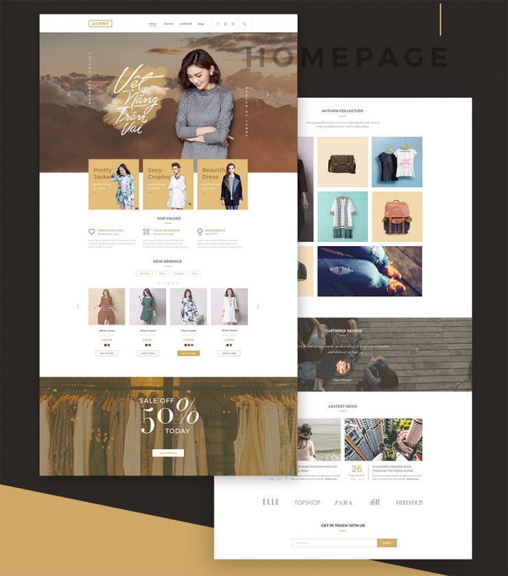 Online Shopping Store eCommerce Template Free PSD