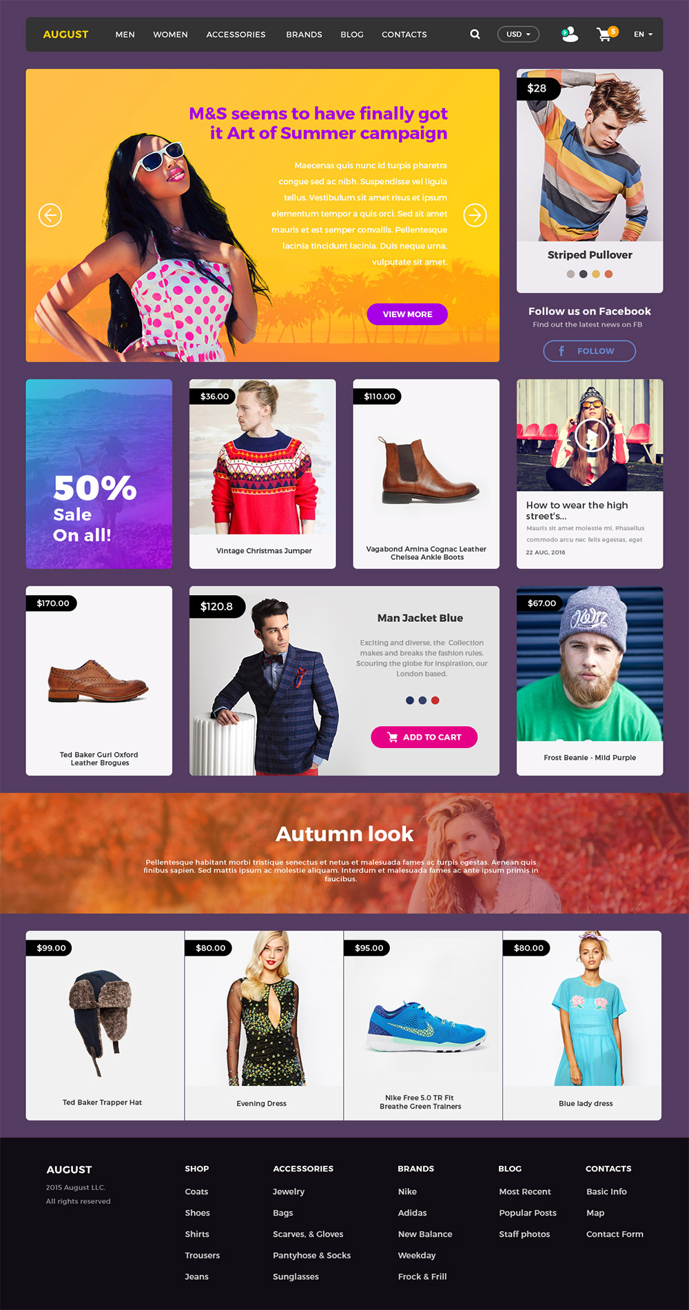 Online Shopping ECommerce Website UI Kit Free PSD Download