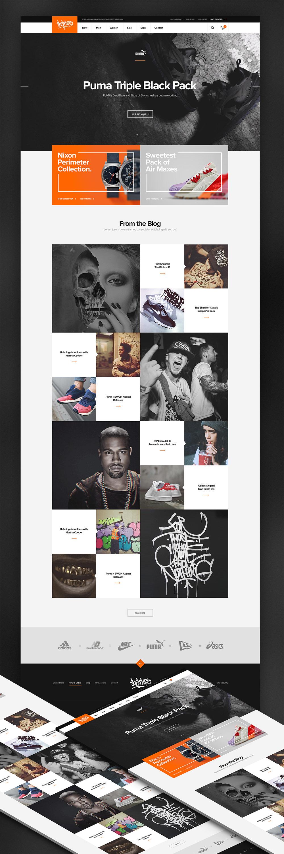 Online Sneaker Wear Shop ECommerce Website Template Free PSD - Dreamweaver ecommerce templates