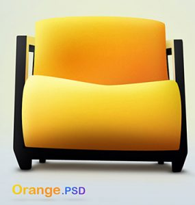 Orange PSD file PSD, Objects, Layered PSDs, Chairs,