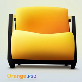 Orange PSD file