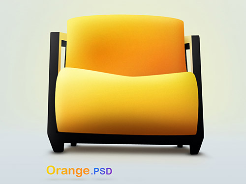 Orange PSD file PSD Objects Layered PSDs Chairs