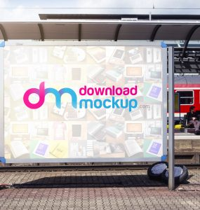 Outdoor Billboard Mockup Free PSD