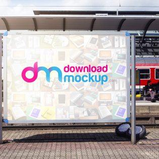 Outdoor Billboard Mockup Free PSD