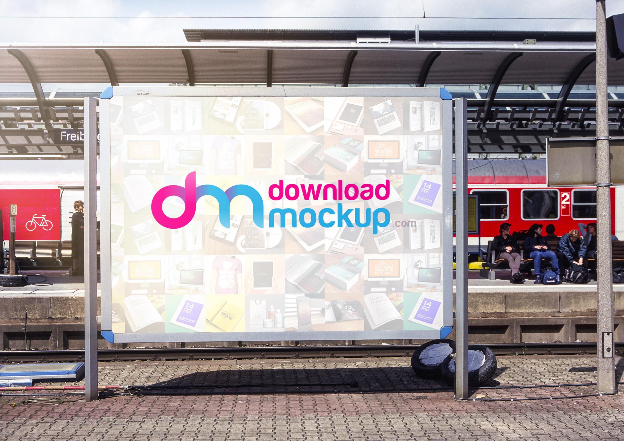 outdoor billboard mockup free psd download psd