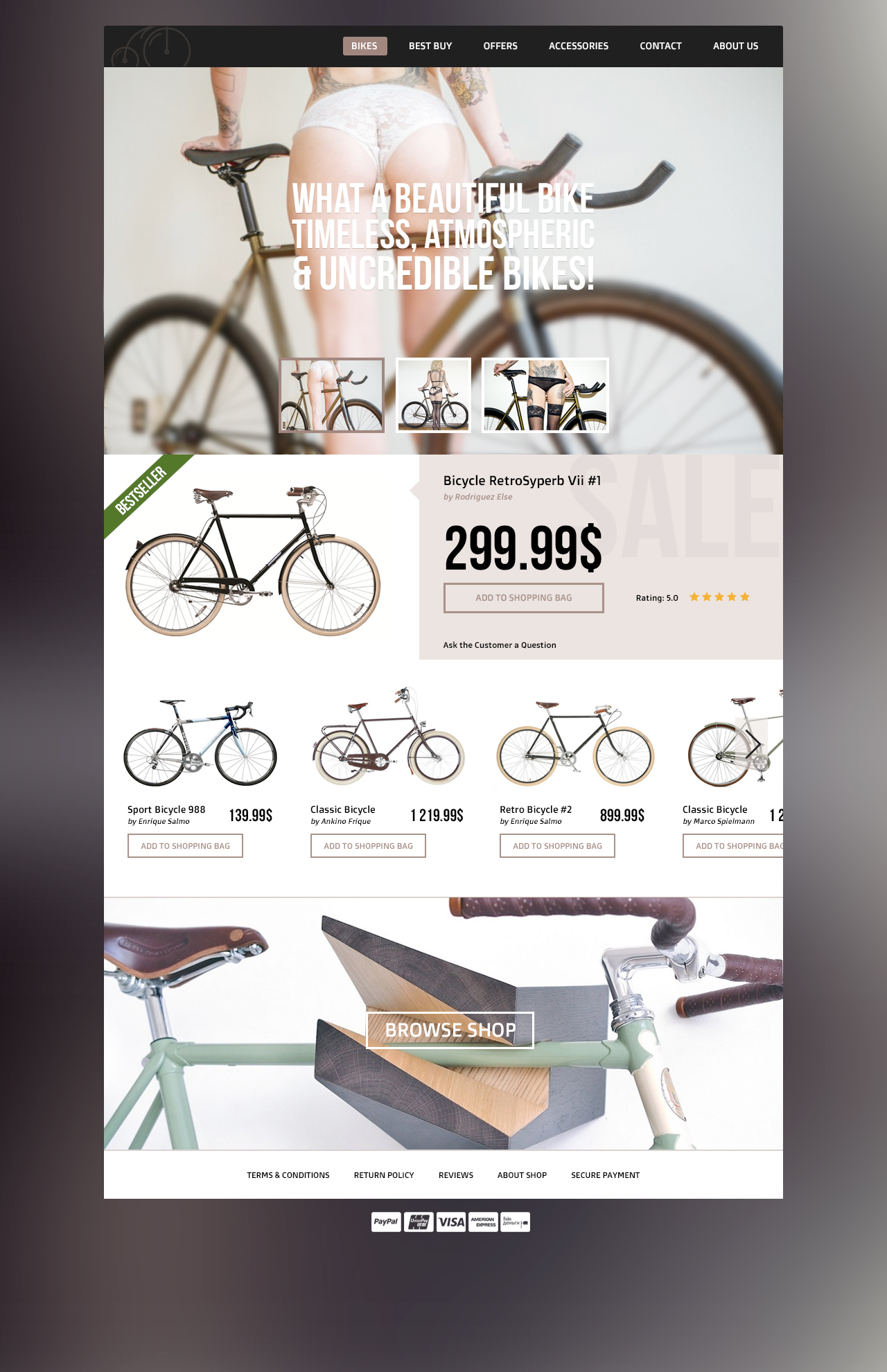 psd template for bike store download download psd. Black Bedroom Furniture Sets. Home Design Ideas