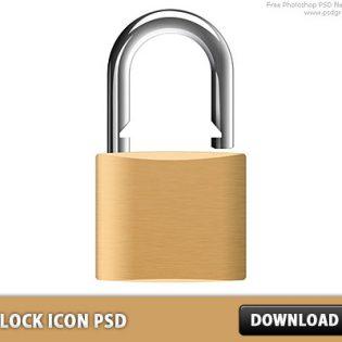 Padlock Icon Free PSD