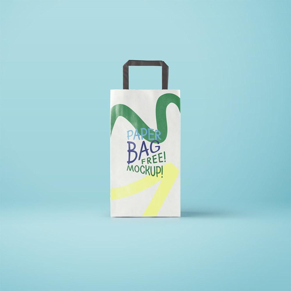 Paper Bag Mockup Free PSD Download PSD