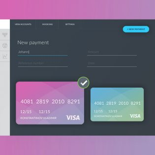 Payment Form UI Template Free PSD