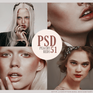 Peachy Reds Desaturated PSD Coloring