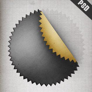 Peel Stiker Free PSD File