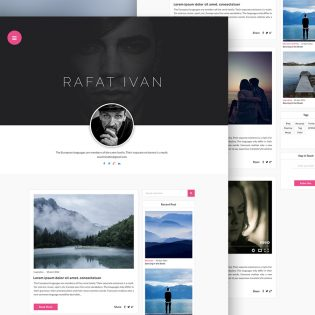 Personal Blog Website Template Free PSD