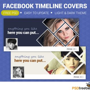 Personal Facebook Timeline Covers Free PSD