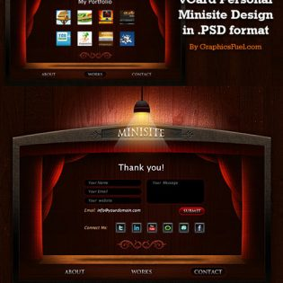 Free Personal Portfolio Minisite PSD Layouts