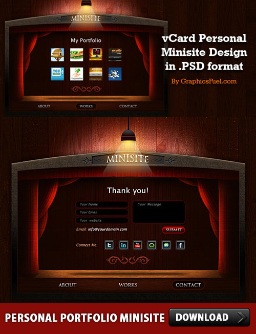 Free Personal Portfolio Minisite PSD Layouts www Wooden Wood Website Web Resources Templates Resources Psd Templates PSD Sources psd resources PSD images psd free download psd free PSD file psd download PSD Portfolio Personal Website Personal Minisite Layout Layered PSDs Free Template Free PSD download psd download free psd Dark