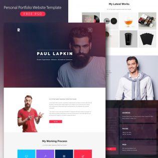 Personal Portfolio Website Template Free PSD