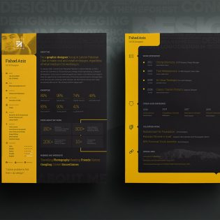 Personal Resume Template Free PSD