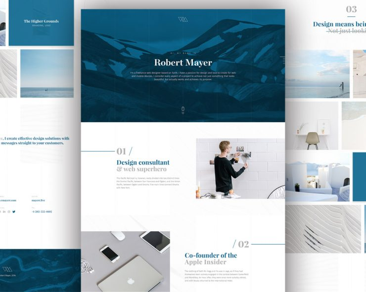 Personal website template free psd download psd for News site template free download