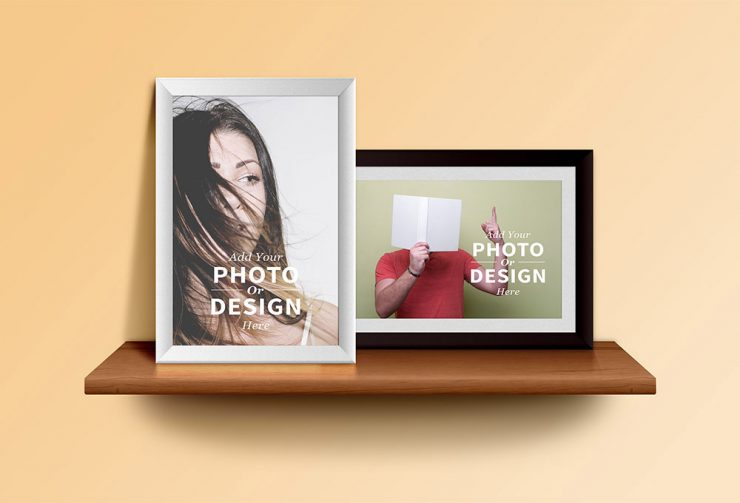 Photo Frames Mockup Free PSD file