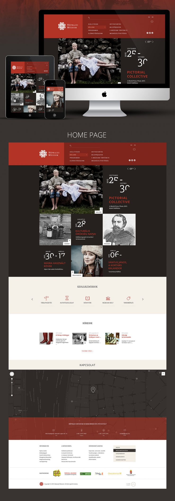 Photo Gallery Exhibition Website Free PSD Landing page