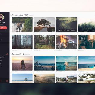 Photo Gallery Website Application Template Free PSD