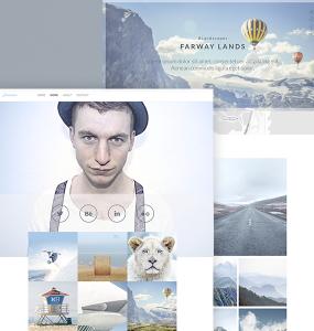 Photographer Website Free Template PSD