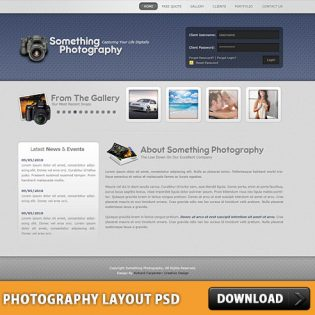 Photography Layout Free PSD