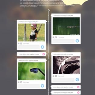 Photography Portfolio Website Template PSD