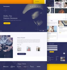 Photography Website Template Free PSD