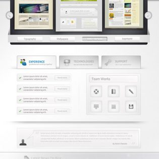 Photoshop Web Design Professional Layout PSD