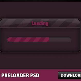Pink Website Preloader Free PSD