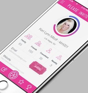Pink iOS App Interface Design PSD White, User, UI, PSD, Profile, Pink, Phone, Mobile, iOS, invite, GUI, Freebie, Free PSD, Free, Flat, dribble, Download, Clean, Application, Apple, App,