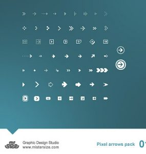 Pixel Arrows Pack 01 Web Resources, Resources, PSD, Pixel Icon, Icons, Arrow,