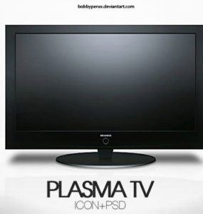 Plasma TV PSD file TV, PSD, Objects, Layered PSDs, Icons,
