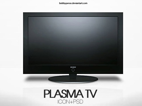 Plasma TV PSD file TV PSD Objects Layered PSDs Icons